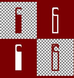 hotel door hanger tag sign bordo and vector image