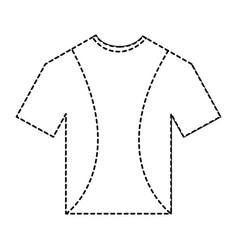 t shirt uniform sport clothes icon vector image