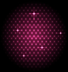 Abstract global with pink dots background vector image