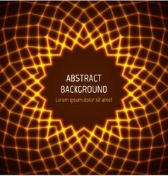 Abstract orange circle polygonal border background vector image