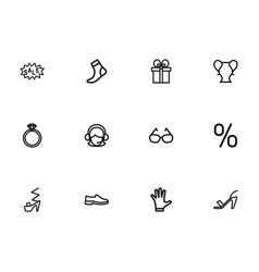 set of 12 editable business outline icons vector image vector image