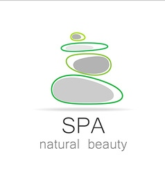 spa natural beauty logo template vector image