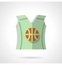Basketball sleeveless shirt flat color icon vector image