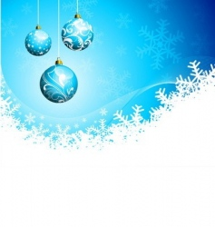 christmas illustration with glass balls vector image vector image