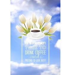 Coffe cup vector image vector image