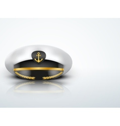 Light Background Captain peaked cap with gold vector image vector image
