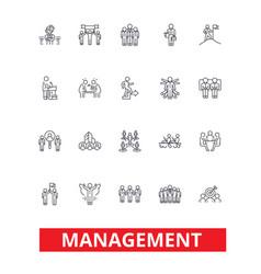 management teamwork marketing strategy human vector image
