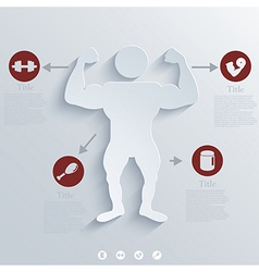 Muscled Body background Eps10 vector image vector image