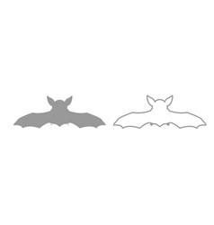 night bat grey set icon vector image vector image