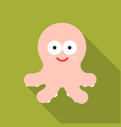 octopus flat icon for web and mobile vector image