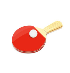 table tennis racket and ball vector image