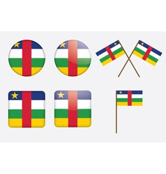 badges with flag of the CAR vector image