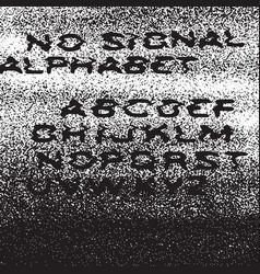 no signal alphabet no signal background error vector image vector image