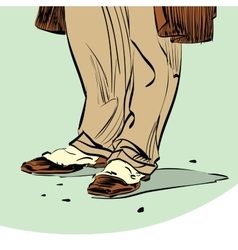Old fashion Hipster man shoes vector image