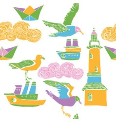 pastel collage patterns vector image vector image