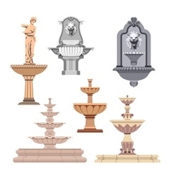 set of different fountains Design elements vector image vector image