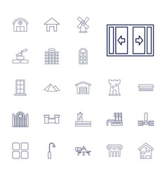 22 architecture icons vector
