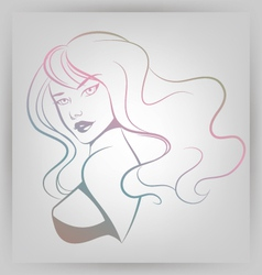 Abstract Woman Portrait vector