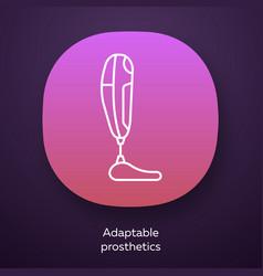 Adaptable prosthetics app icon missing body part vector