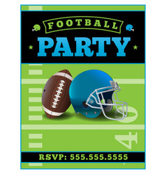 american football party flyer template vector image