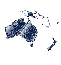 Australia continent vector image vector image