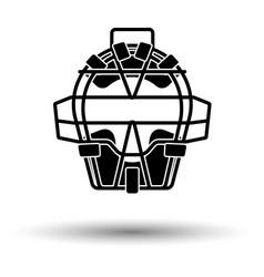 Baseball face protector icon vector
