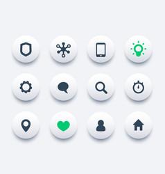 basic web icons set communication and technology vector image
