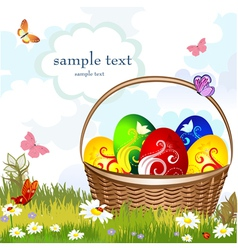 basket easter vector image