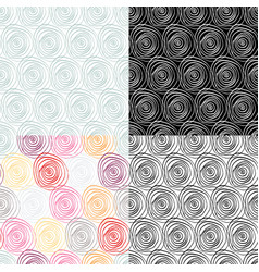 beautiful set seamless patterns vector image