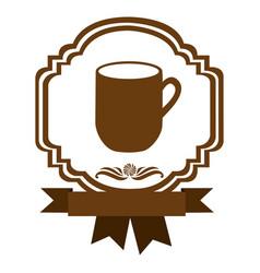 brown border heraldic decorative ribbon with big vector image