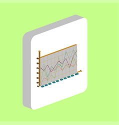 business graphs computer symbol vector image