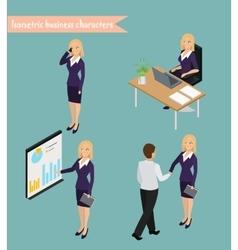 Business woman management vector