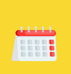 calendar icon time planning managment vector image