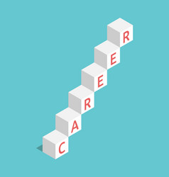 career ladder cubes vector image
