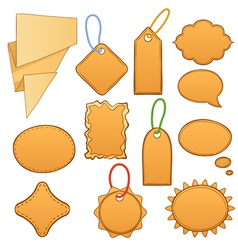 cartoon label tags vector image