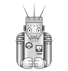 cartoon retro robot vector image