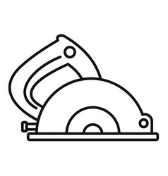 circular saw icon outline style vector image