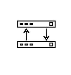 connection sync icon vector image