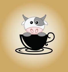 Cow logo coffee vector