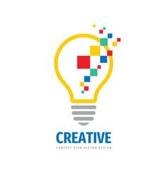 creative idea - logo template concept vector image