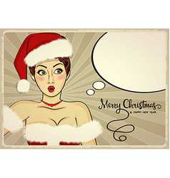 Customizable beautiful retro christmas card vector