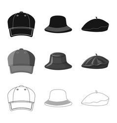 Design headgear and cap symbol vector