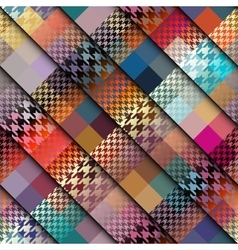 Diagonal plaid background vector