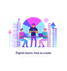 digital teams design vector image