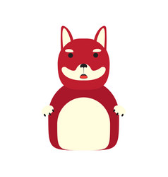 dog character cartoon vector image
