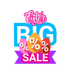easter big sale banner holiday shopping offers vector image