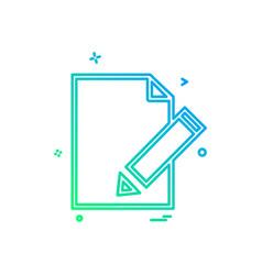 edit document icon design vector image
