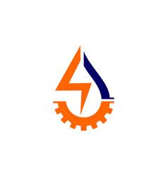 elecric industrial logo vector image