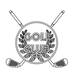 Emblem of the golf clubgolf club single icon in vector