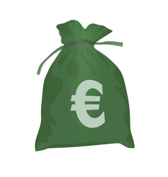 eur coin bag vector image